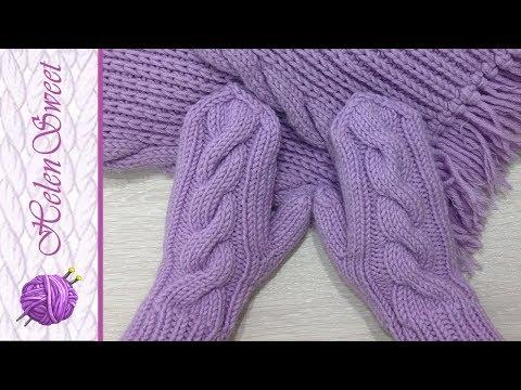 Вязание детских варежек. Вязание спицами. Как связать варежки?