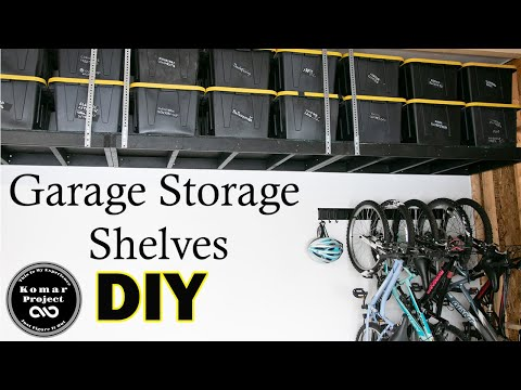 How To Make Suspended Garage Storage Shelves for Under $200 || DIY Storage Project