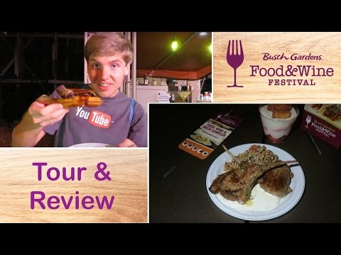 Trying the Busch Gardens Tampa Food & Wine Festival Offerings! (Tour & Review 2017)