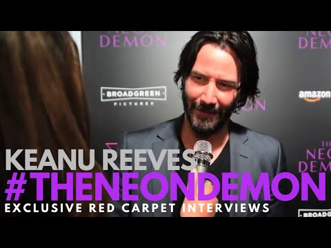 Keanu Reeves interviewed at the LA Premiere of The Neon Demon #TheNeonDemon