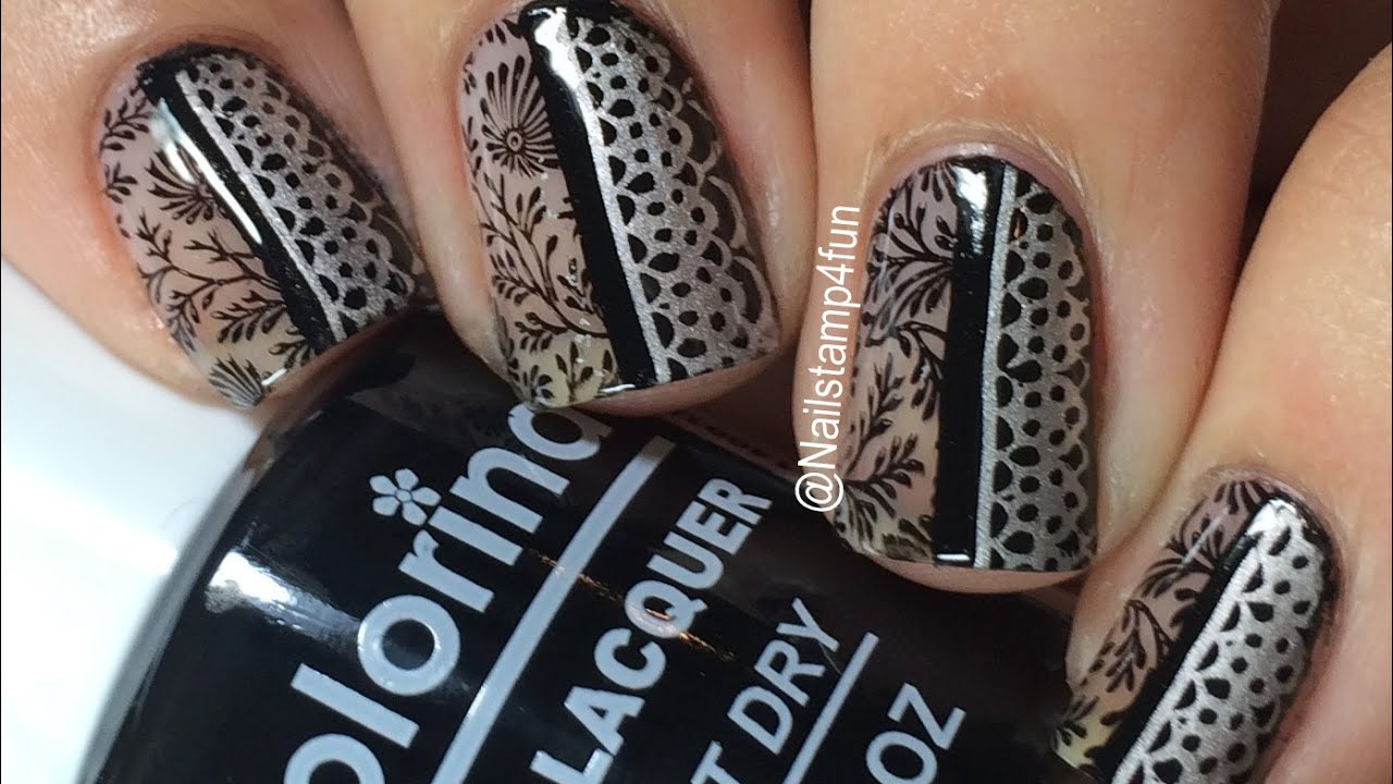A still of Negative space nail art
