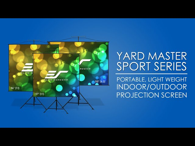 Elite Screens Yard Master Sport Ultra Lightweight Projector Screen Product Video