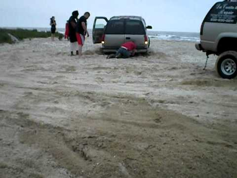 Recovery from sand in a 2000 Tahoe Z71 at Galveston!
