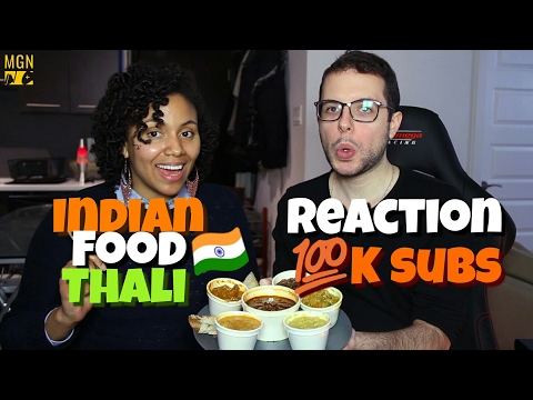 Indian Food : Thali Reaction (100K Subs)