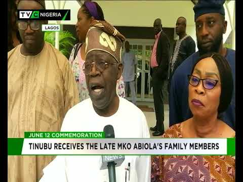 Tinubu receives late MKO Abiola's family members