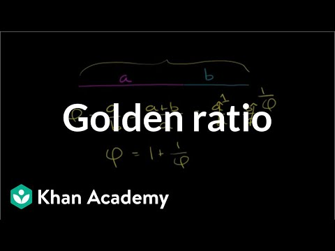 The golden ratio | Introduction to Euclidean geometry | Geometry | Khan Academy