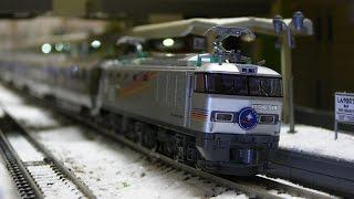 定期運用が終了した寝台特急カシオペア。 実写動画と鉄道模型(Nゲージ...
