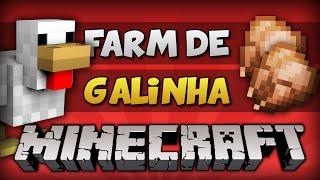 ✔ Minecraft: FARM DE GALINHA // Frango Cozido e Ovos (Automática / Compacta)!