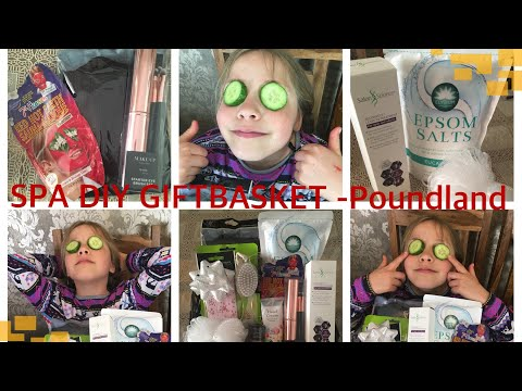DIY SPA  Poundland Gift Basket