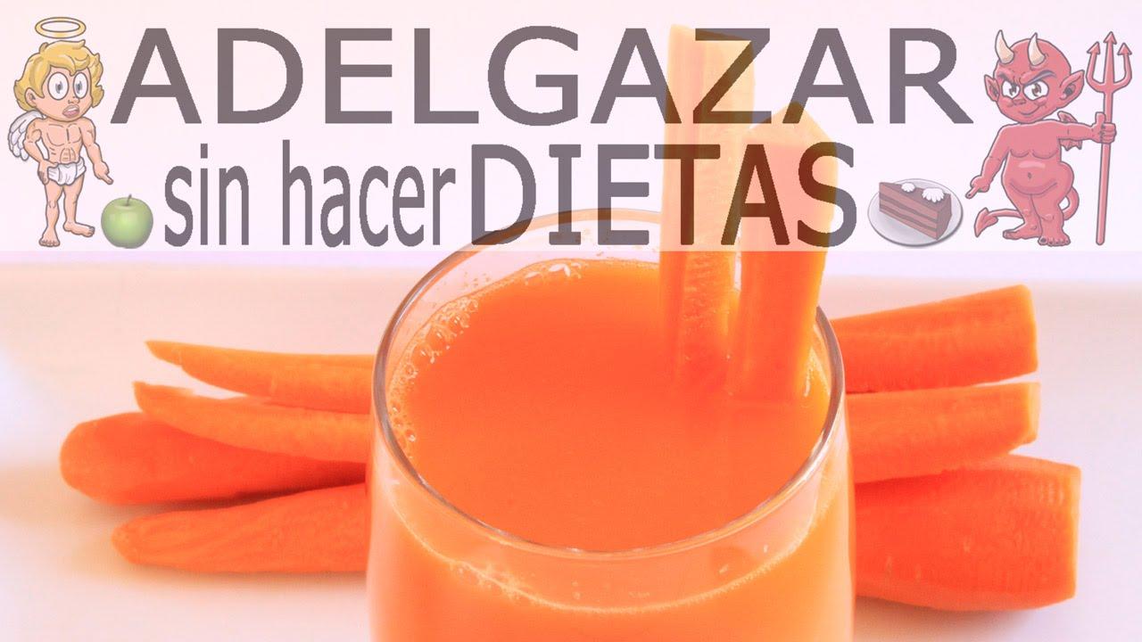 jugo de zanahoria y naranja para bajar de peso