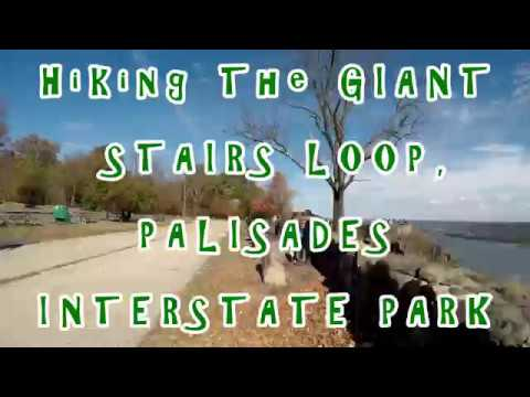 """⁴ᴷ Hiking the """"Giant Stairs Loop"""" in Palisades Interstate Park - Full Hike"""