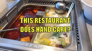 HAND CARE in this NYC Restaurant!?! Hai Di Lao Chinese Hot Pot Tour