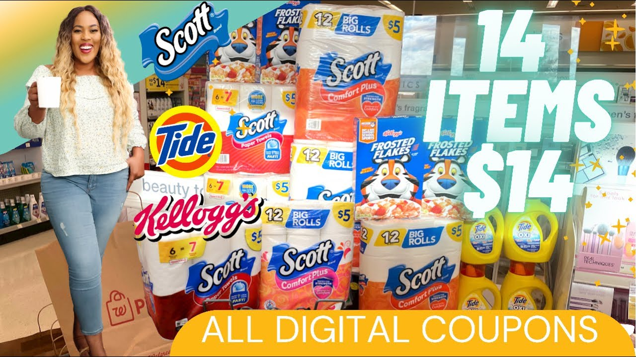 Download WALGREENS COUPONING! ALL DIGITAL COUPONS | 14 ITEMS $14 | EASY COUPON DEAL! #walgreens  7/11-7/17