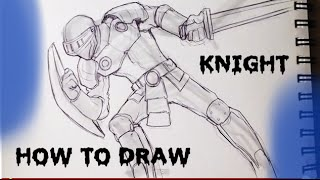How to Draw a Knight - Draw Fantasy Art