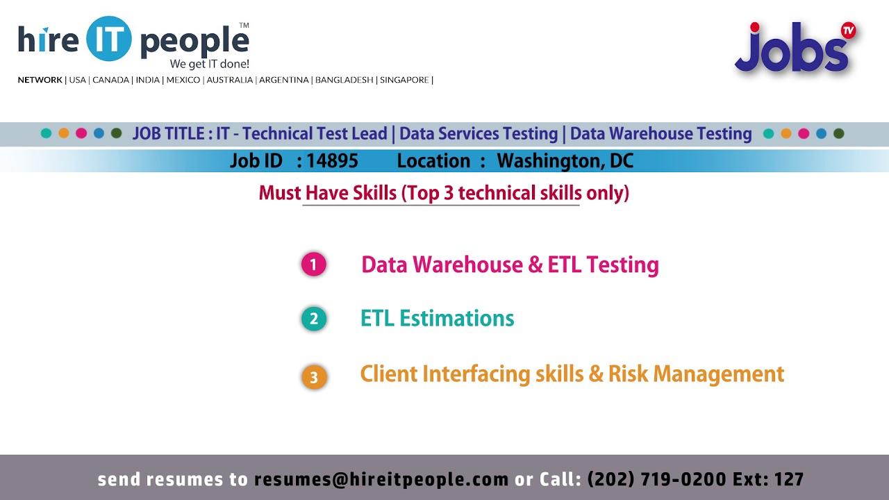 Data Warehouse Testing Jobs | Washington,DC - YouTube