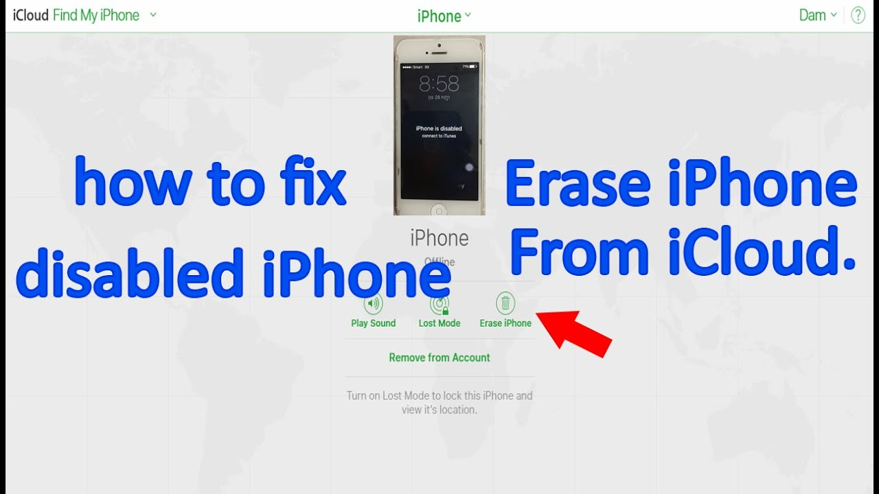how to erase iphone 5 erase disabled iphone from icloud how to fix disabled 5786