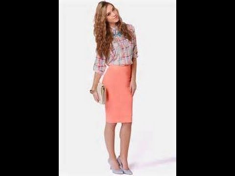 3245947edb DIY how to make a pencil skirt in 5min easy - YouTube