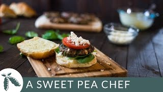 Spinach And Feta Burgers With Garlic Aioli | A Sweet Pea Chef