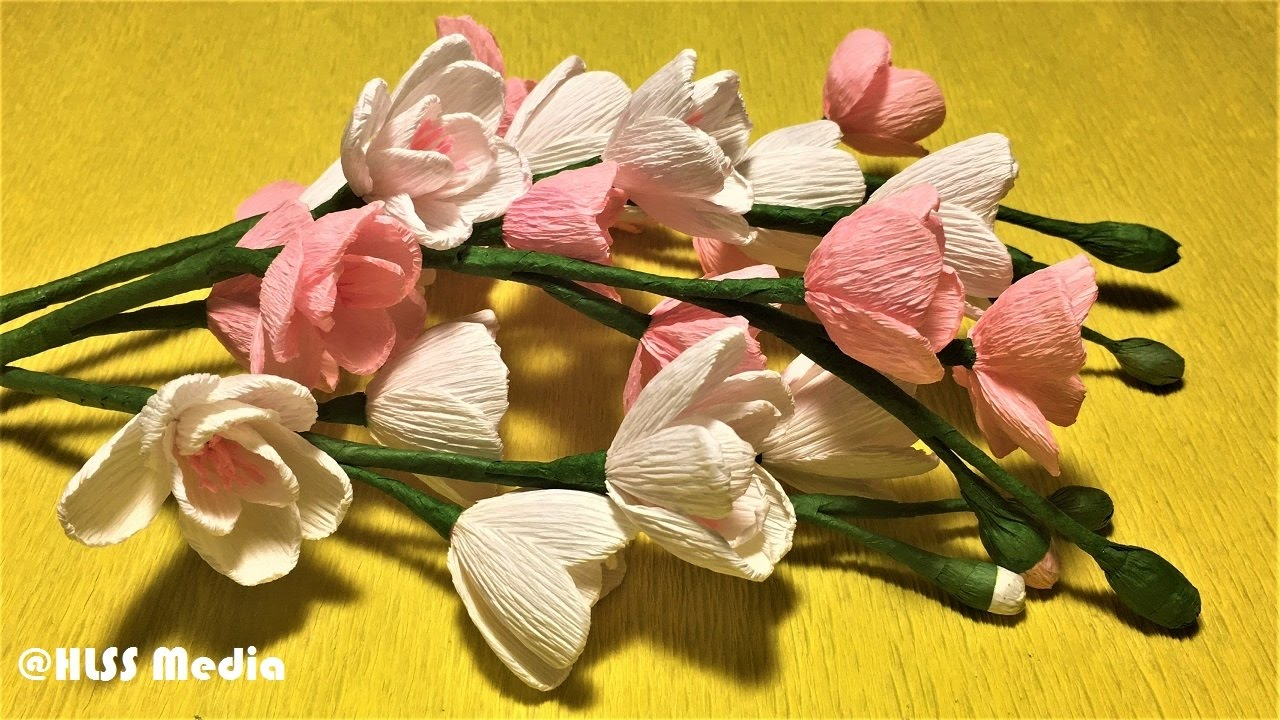 How To Make An Easy Cherry Blossom Paper Flower Step By Stepdiy