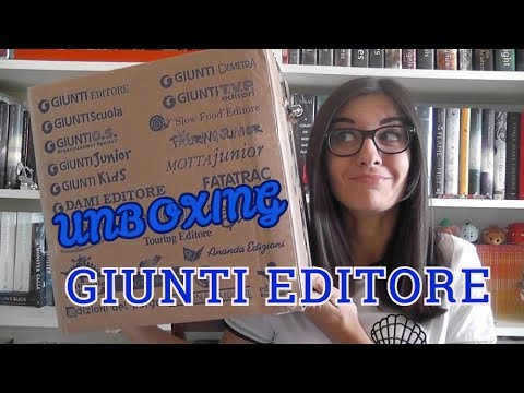 UNBOXING GIUNTI EDITORE