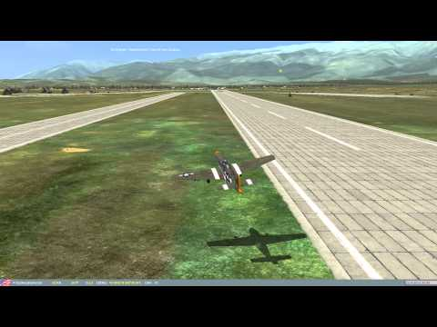 DCS World - P-51 HVAR Convoy Attack & Crash