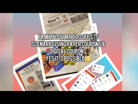 FAMILY DOLLAR $20 OFF $75 SCENARIO USING PAPER COUPONS & DIGITAL. YES ITS POSSIBLE 😁