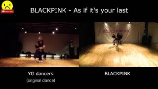 blackpink as if its your last dance practice yg dancer vs blackpink