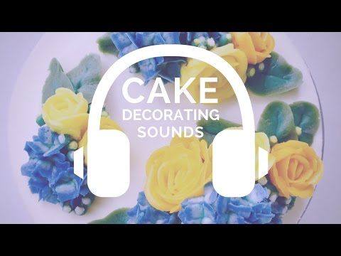 {NO MUSIC} Yellow Roses and Hydrangeas flower clouds cake - ASMR cake decorating sounds