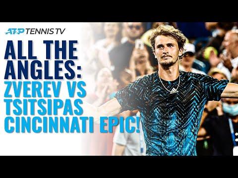 Alexander Zverev vs Stefanos Tsitsipas: All The Angles | Cincinnati 2021 Highlights