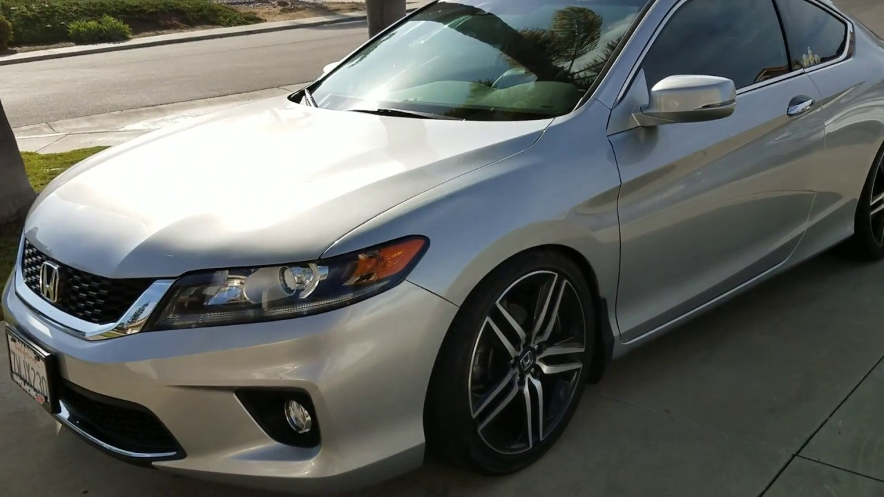 Honda Accord 2014 Coupe V6 >> 2013 2014 2015 Honda Accord coupe 9th Gen 4cyl mods - YouTube