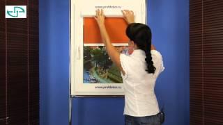 Монтаж рулонных жалюзи Uni на пластиковые окна(, 2013-08-05T18:56:11.000Z)