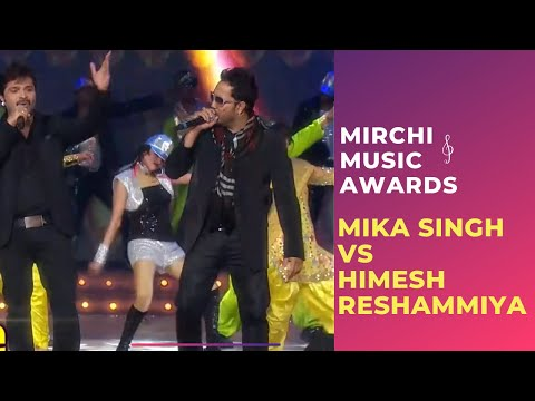 Mika Singh and Himesh Reshammiya's Musical takkar at Mirchi Music Awards!