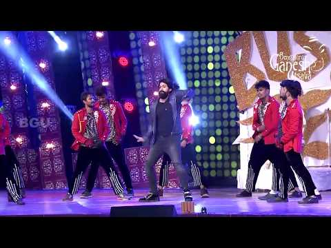 Rocking Star Yash Dancing to medley of his songs @ 55th Bengaluru Ganesh Utsava