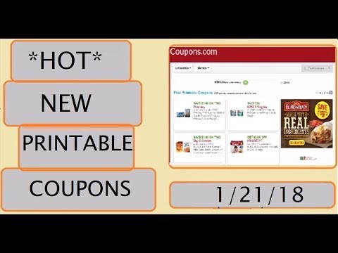 *HOT* New Printable Coupons!- 1/21/18