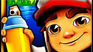 Subway Surf играем! Мультик игра собиратель монет  убегаем от охранника  Сабвей Сёрф