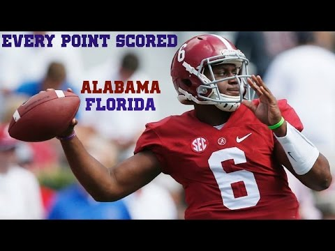 EVERY POINT SCORED (Alabama vs. Florida 2014)