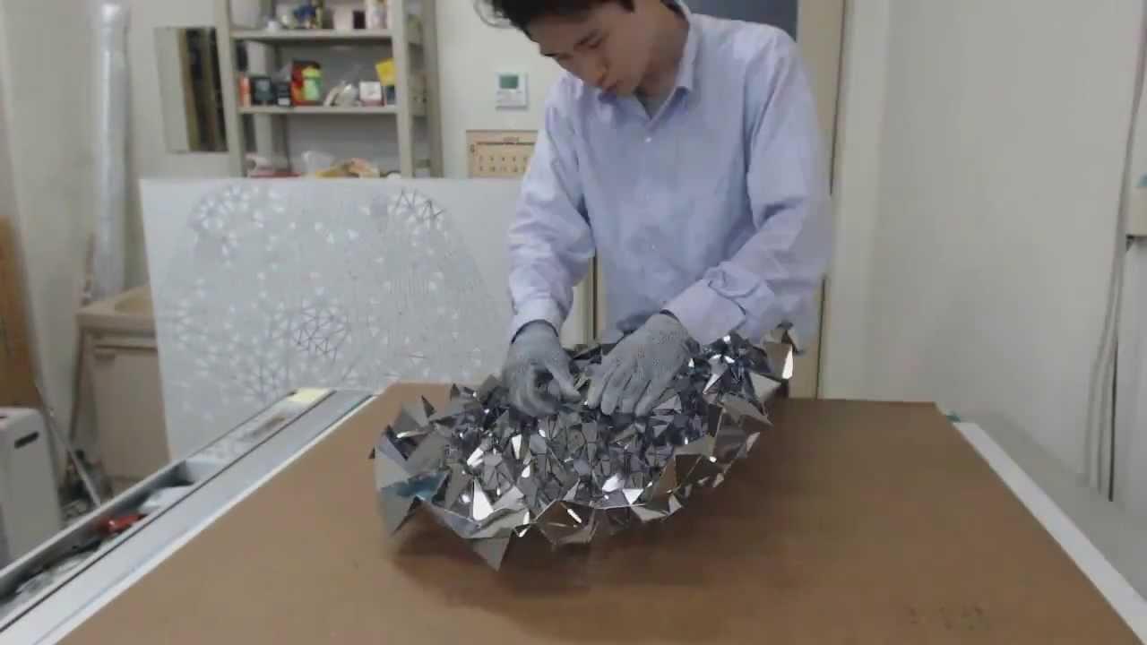 folding metal origami tessellation youtube