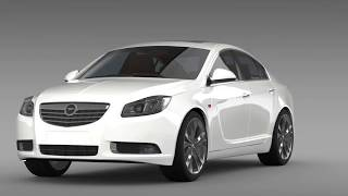 3D Model of Opel Insignia 2008-13 Review