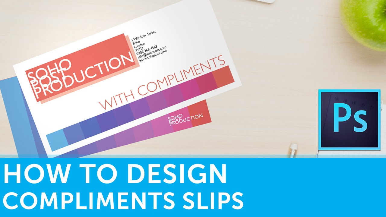 How to design compliment slips in adobe photoshop How design com