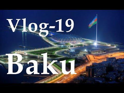 Baku City Centre Tour in Night - Fəvvarələr Meydani Axşam Şəhər Qəzintisi - Azerbaijan - VLOG-19
