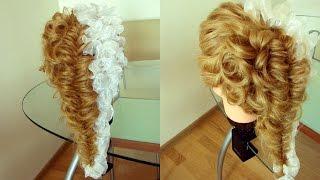 Романтичная причёска с лентой. Видео-урок