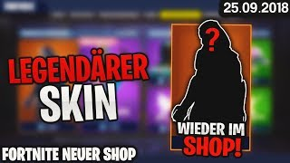FORTNITE SHOP from 25.9 - 🔮 LEGENDARY SKIN 🛒 Fortnite Daily Item Shop Today 25 September 2018 | Detu