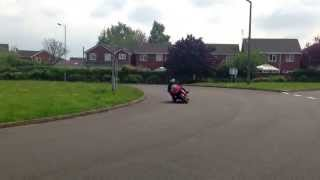 Luke with his modified knee slider small sparks