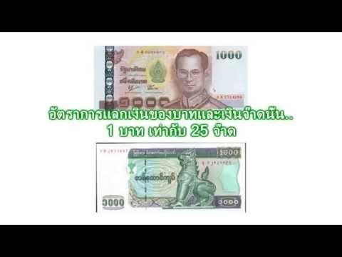 อัตราแลกเงินไทยกับเงินพม่า
