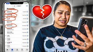 PRANK CALLING USING MY HUSBANDS PHONE | I CRIED 💔