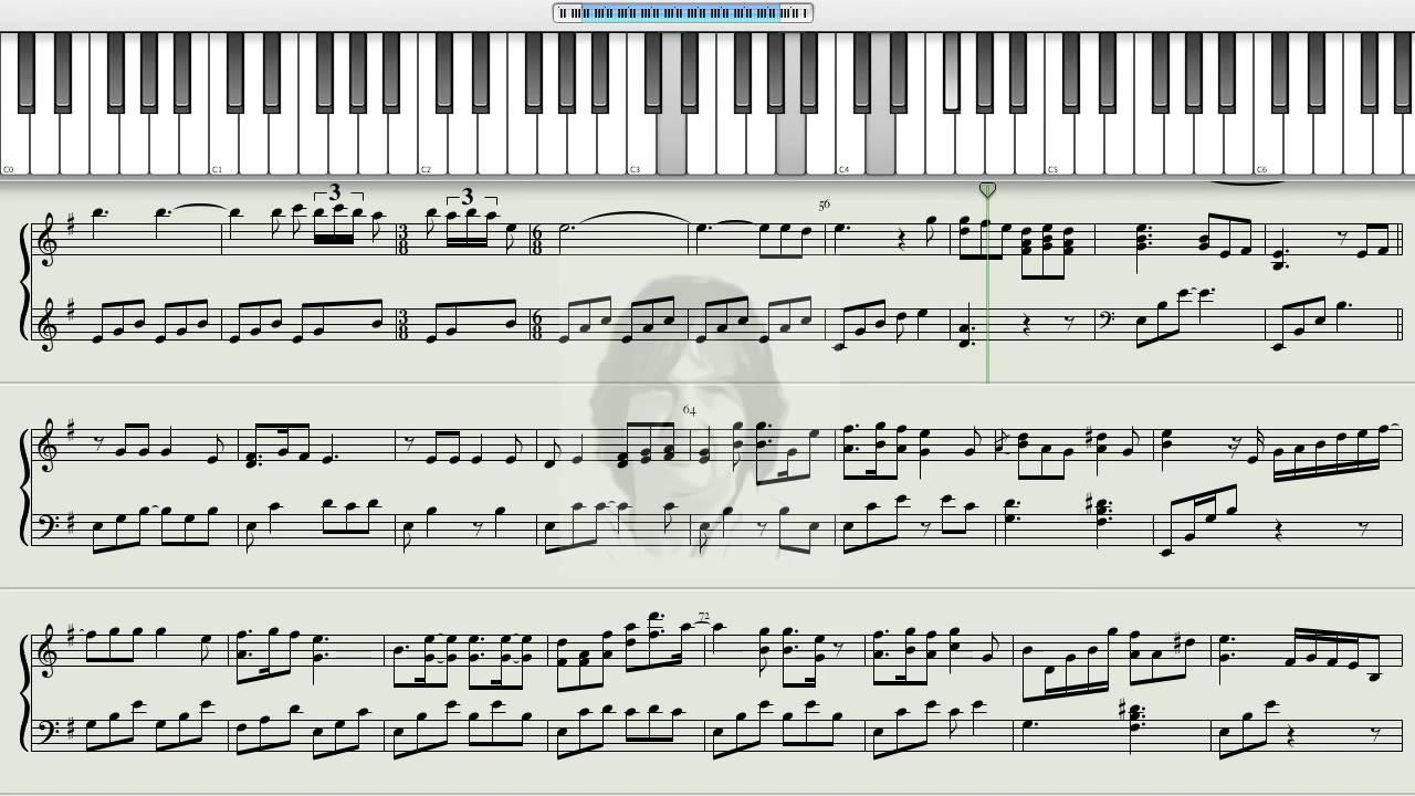 скачать ноты для фортепиано сумерки