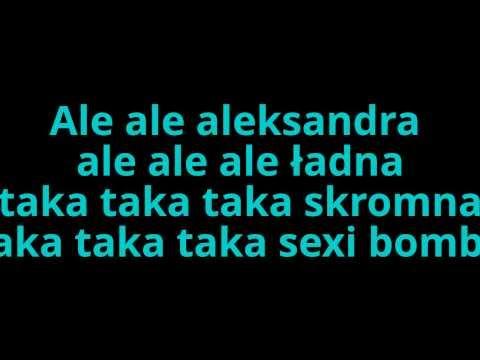 Andre- Ale ale aleksandra (tekst)