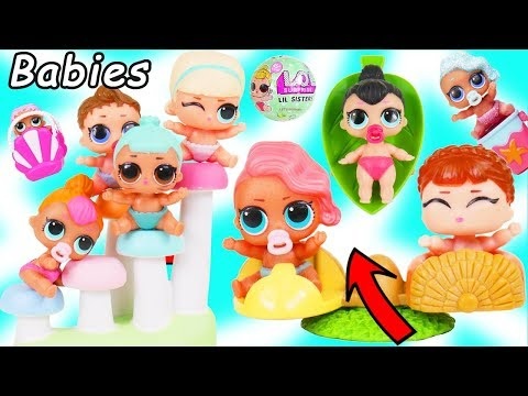 LOL Surprise Dolls Dress Up in School for Lil Sisters Treehouse   Toy Mystery Blind Bag Video