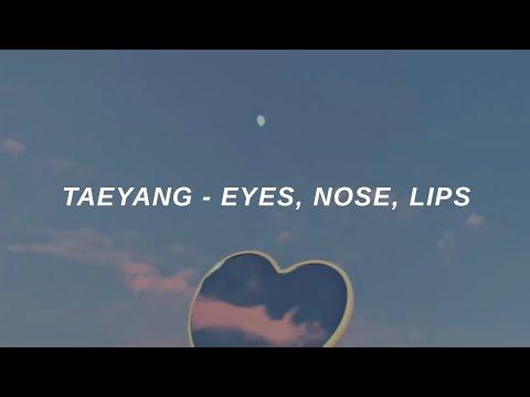 TAEYANG (태양) 'Eyes, Nose, Lips (눈, 코, 입)' Easy Lyrics