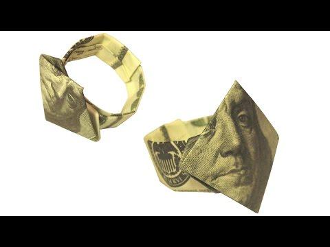 Dollar Finger Ring Money Origami